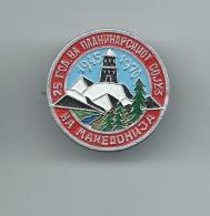 Sports > Alpinism, Mountaineering,25 Years Mountaineering Association Of Macedonia.badge - Alpinismo, Escalada