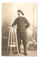 MILITARIA CARTE PHOTO GRENOBLE 8 NOVEMBRE 1912 CHASSEUR ALPIN DAMIEN POMMEYROL (?) DUERNE - RAPID PHOTO - 2  Scans - - Photographs