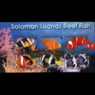 SOLOMON IS. 2001 - Scott# 926a S/S Reef MNH - Solomon Islands (1978-...)