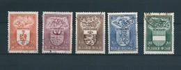 [1948] Zegels 756 - 760 Gestempeld - Belgien