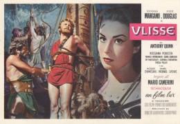 """10641-PUBBLICITA' DEL FILM """"ULISSE"""" CON SILVANA MANGANO E KIRK DOUGLAS-1954-FG - Attori"""