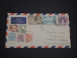 MYANMAR / BURMA - Enveloppe Pour La Tchécoslovaquie 1955 - A Voir - L 2742 - Myanmar (Birmanie 1948-...)