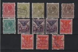 PAYS - BAS : 13 EX . * ET OBL . 1924/31 . B .