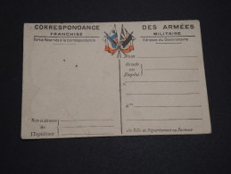 FRANCE - Carte Lettre En Franchise Militaire Avec Carte Du Front - A Voir - L 2746 - Cartes De Franchise Militaire