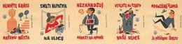 Tchécoslovaquie - Série De 5 Etiquettes De Boites D'Allumettes (Štítky Matchbox, Hygiène) - Solo Lipnik - Boites D'allumettes - Etiquettes