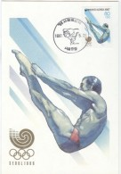 SOUTH KOREA Maxicard Diving With First Day Cancel For The 1988 Olympic Games In Seoul