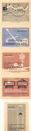 Tchécoslovaquie - Série De 5 Etiquettes De Boites D'Allumettes (Štítky Matchbox). Kapusani Vsz Kosice - Solo Lipnik - Matchbox Labels