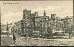 Yorkshire, Bradford Post Office Trams Valentine's Postcard - Bradford