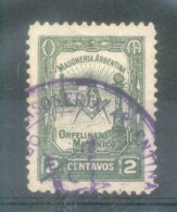ORFELINATO MASONICO - MASONERIA ARGENTINA VIGNETTA LABEL VIÑETA L'ARGENTINE CIRCA 1920 RARISIME OBLITERE - Erinnofilie