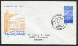 1961 Brazil Brasil Rio De Janeiro - Germany Lufthansa Boeing 720B First Flight Cover - Luchtpost