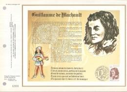 FRANCE    -   1977.   Feuillet CEF  N° 428  -    GUILLAUME DE MACHAULT - Documentos Del Correo