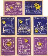 Tchécoslovaquie - Série De 8 Etiquettes De Boites D'Allumettes (Štítky Matchbox)  65 - Solo Lipnik - Matchbox Labels