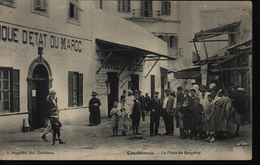 CPA Maroc Casablanca La Place De Kergolay ( Banque D'état Du Maroc - Nouvelles Galeries ) L Deygallier Phot Casablanca - Casablanca