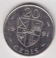 @Y@   Ghana   20 Cedis   1991     (3093) - Ghana