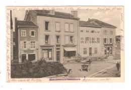 CPA 54 - CIREY Sur VEZOUZE -- Rue De La Gare ( Rue Joffre ) Immeubles Coiffeur Magasin Attelage Vue Peu Commune 1916 - Cirey Sur Vezouze