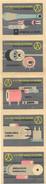 Tchécoslovaquie - Série De 5 Etiquettes (Štítky Matchbox) 20 Let Vyroby Soucastek Pro Elektroniku - Solo Lipnik - Matchbox Labels