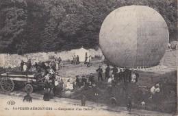 SAPEURS-AÉROSTIERS : CAMPEMENT D´UN BALLON / FRANCE : MILITARY BALLOON ~ 1915 - ´16 (u-988) - Guerre 1914-18