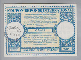 Finnland Ganzsache Coupon Réponse International Helsinki 1959-10-01 45 Mark - Finlande