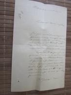 VALENCE 30 AVR 1870 LETTRE MANUSCRIT--GRAND VICAIRE DOREL Curé EGLISE CHAMALOC-PROCÈS DOSSIER SUITE LIRE CHER CONFRÈRE - Manuscrits