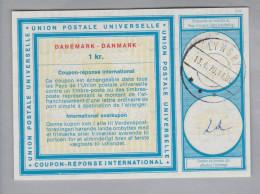 Dänemark Ganzsache Coupon Réponse International Lyngby 1970-04-13 1 Krone - Entiers Postaux