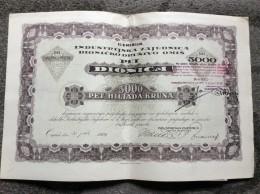 AKTIE   SHARES   STOCK   STOCKS   BONDS  OMIS  OMIŠ   CROATIA 5000 KRUNA  1921. - Industrie