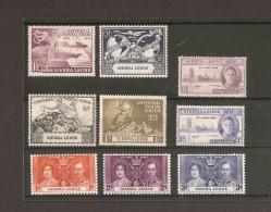 SIERRA LEONE 1937 - 1949 KING GEORGE VI COMMEMORATIVE SETS MOUNTED MINT Cat £6.40 - Sierra Leone (...-1960)