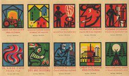 Tchécoslovaquie - Série De 10 Etiquettes De Boites D'Allumettes (Štítky Matchbox) - Solo Susice - Matchbox Labels