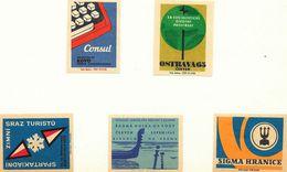 Tchécoslovaquie - Lot De 59 Etiquettes De Boites D'Allumettes (Štítky Matchbox) - Vrac - Solo Lipnik - Matchbox Labels