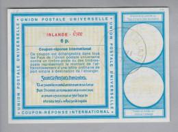 Irland Ganzsachen Coupon Réponse International 1971-06-15 6 P. - Entiers Postaux