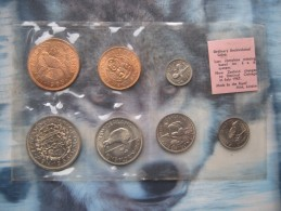 New Zealand 1965 UNC 7 Coin Set 1/2 Penny - Half-Crown Sealed Pack By Royal Mint - New Zealand