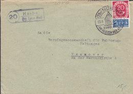 DR  519 EF Auf Brief Mit Landpost-Stempel: (20)  Harber über Soltau (Han)  Und PostSo.stempel: Soltau Erholung 3.6.1952 - BRD