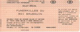 Funérailles Du Roi Baudouin - Chemins De Fer