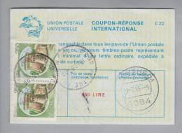 Italien Ganzsache Coupon Réponse International 1985-02-21 500 Lire - 6. 1946-.. Repubblica
