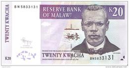 Malawi - Pick 52e - 20 Kwacha 2009 - Unc - Malawi
