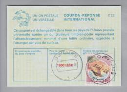 Italien Ganzsache Coupon Réponse International 1993-06-23 1500 Lire - 6. 1946-.. Repubblica