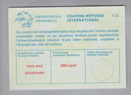 Niederlande Ganzsachen Coupon Réponse International Ungebraucht 250 Cent - Postal Stationery