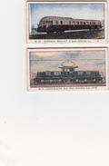 Lot De 2 Tickets De Pesage Pour Balance Année 1958 Thème Locomotives Transport Locomotion (2 Scans) - Vieux Papiers