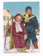 Joyeux Noël  Couple D'enfants Souriants Après Une Bonne Partie De Luge  BE - Noël