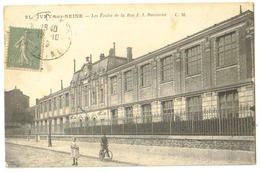 Carte Postale Ancienne 1919 Ivry-sur-Seine (94) Les Ecoles De La Rue J.J.Rousseau - Ivry Sur Seine
