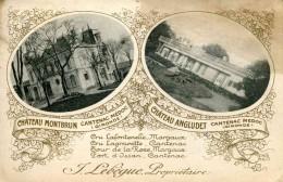 CANTENAC - Château Montbrun Et Château Angludet (date 1924) (au Verso Cachet Covoyeur Ligne) - Sonstige Gemeinden
