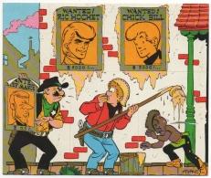 BD. Illustrateur Tibet. Chick Bill & Ric Hochet. Feuille Autocollant Tombola Complète Pour Opération 48.81.00. - Stickers