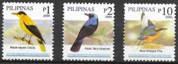 Philippines 2008 Birds - III  ( 2008a )  3v  MNH** - Pájaros