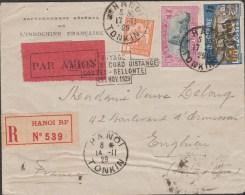 INDOCHINE Slogan VOYAGE RETOUR RECORD DISTANCE COSTE BELLONTE   Réf  G245 - Indochine (1889-1945)