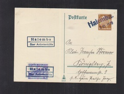 Dt. Reich Bestzung Polen Poland PK Hamemba 1939 - Besetzungen 1938-45