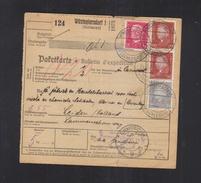 Dt. Reich Paketkarte 1933 Wüstegiersdorf Schlesien - Duitsland