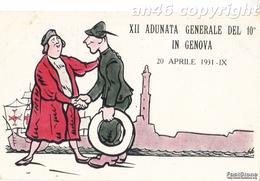 MILITARI-10°REGG.ALPINI _XII ADUNATA GENERALE DEL 10° IN GENOVA_OTTIMA CONSERVAZIONE-VEDI 2 SCANNER - Militaria