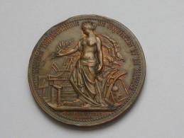 Médaille En Bronze -A.BORREL - Société Industrielle De St Quentin Et De L'Aine **** EN ACHAT IMMEDIAT **** - Professionals/Firms