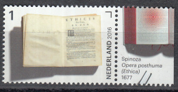 Nederland - Jaar Van Het Boek - Spinoza - Opera Posthuma (Ethica) - MNH - NVPH 3459 - Schrijvers