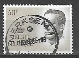 Ocb Nr 2127 Boudewijn Baudouin Velghe Centrale Stempel Merksem - 1981-1990 Velghe