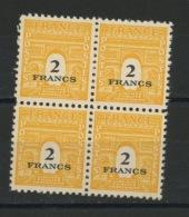 FRANCE - ARC DE TRIOMPHE - N° Yvert 709** BLOC DE 4 - 1944-45 Arco Di Trionfo